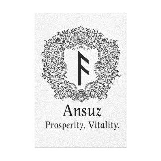 Ansuz-runa/prosperidad, vitalidad lienzo