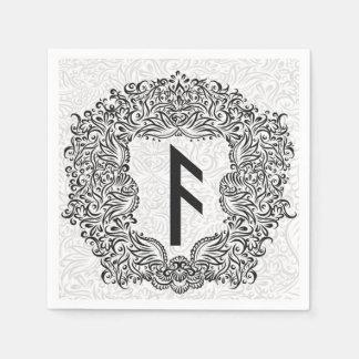 Ansuz-runa/prosperidad, vitalidad servilleta de papel
