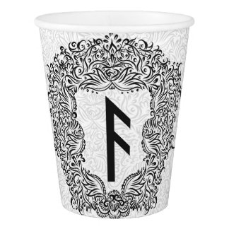 Ansuz-runa/prosperidad, vitalidad vaso de papel