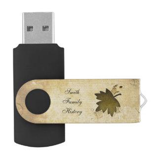 Antecedentes familiares de la hoja de arce del memoria USB