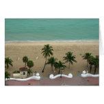Antena de la playa del Fort Lauderdale Felicitación