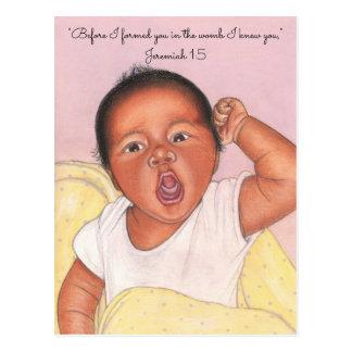 Antes de que le formara postal recién nacida del ~