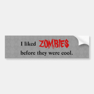 """""""Antes de zombis estaba"""" la pegatina para el"""