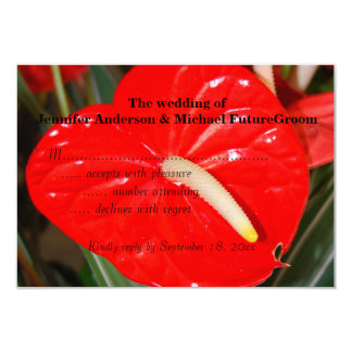 Anthurium hawaiano que casa RSVP Invitación 8,9 X 12,7 Cm