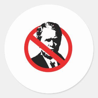 Anti-Bush Pegatinas Redondas