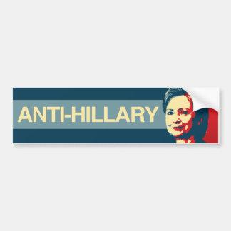 Anti-Hillary - propaganda de Anti-Hillary - - Pegatina Para Coche