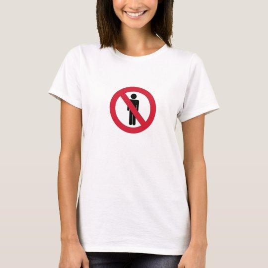 Anti-Hombres F Camiseta