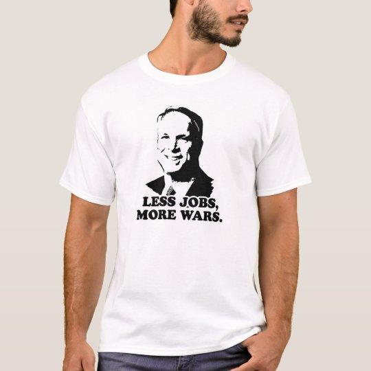 Anti-McCain: Menos trabajos más guerra Camiseta