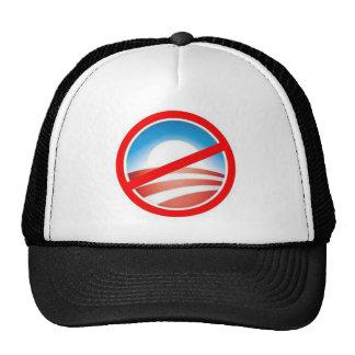 Anti-Obama - ningún Obama 2012 Gorro De Camionero