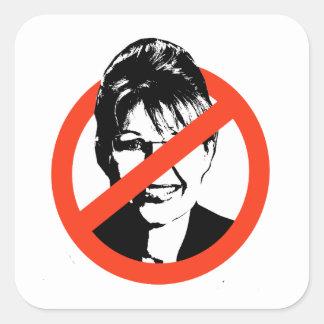 Anti-Palin Pegatina Cuadrada