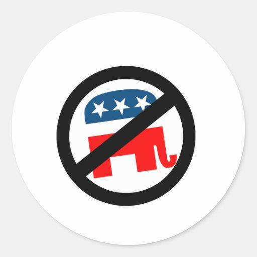 Anti-Republicano Pegatinas Redondas