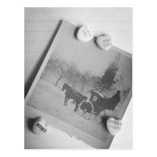 Antigüedad B y jjhelene de la postal de la tarjeta