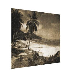 Antigüedad de Playa Los Caballos Impresiones De Lienzo