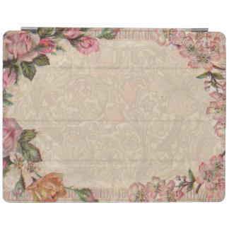 Antigüedad floral de los rosas del vintage cover de iPad