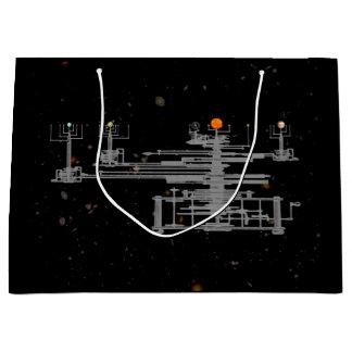 Antigüedad planetaria en espacio bolsa de regalo grande