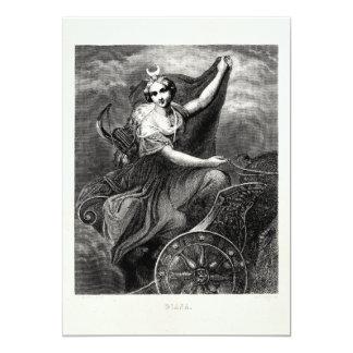 Antiguo romano griego de Diana Artemis de la diosa Invitación 12,7 X 17,8 Cm