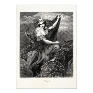 Antiguo romano griego de Diana Artemis de la diosa Anuncios
