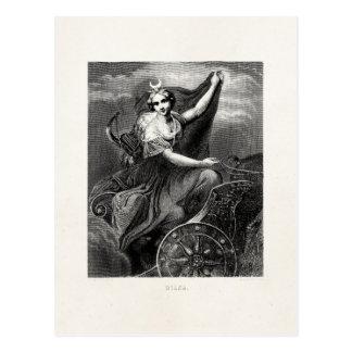 Antiguo romano griego de Diana Artemis de la diosa Postal