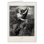 Antiguo romano griego de Diana Artemis de la diosa Tarjeta
