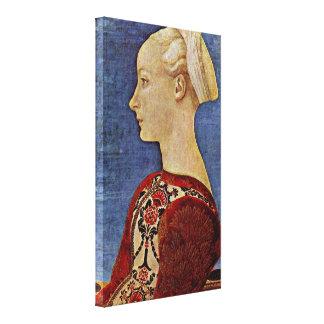 Antonio del Pollaiolo - retrato del perfil Impresiones De Lienzo