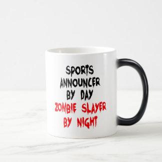 Anunciador de deportes del asesino del zombi taza mágica