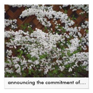 anunciando el compromiso de… invitaciones personales