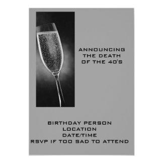 ANUNCIANDO La MUERTE De los años 40 INVITE Invitación 12,7 X 17,8 Cm