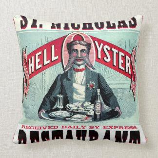 Anuncio 1873 del restaurante de Cincinnati Cojín Decorativo