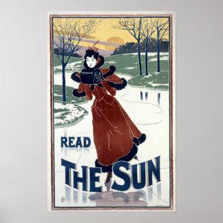 Anuncio 1895 de Nouveau The Sun del arte de Louis
