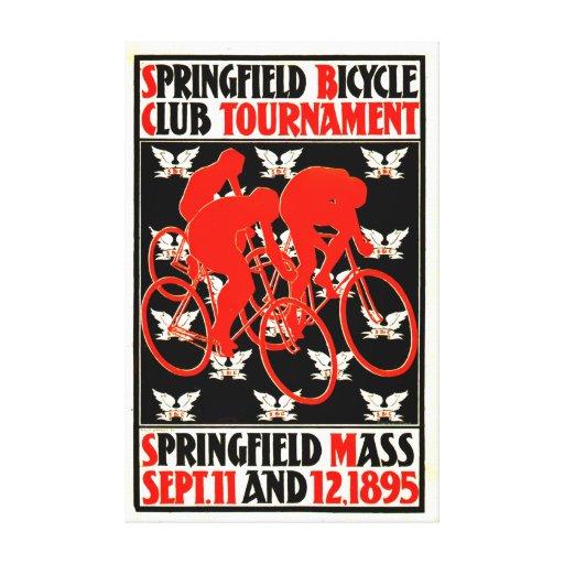 Anuncio 1895 del torneo de la bicicleta impresiones en lienzo estiradas