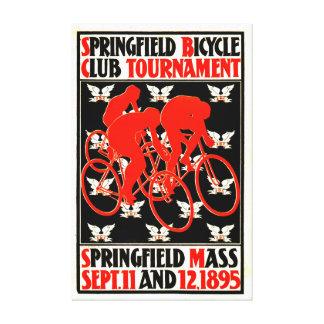 Anuncio 1895 del torneo de la bicicleta lona envuelta para galerias