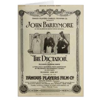 Anuncio 1915 del expositor de la película muda de