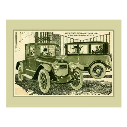 Anuncio 1918 del automóvil de Haynes de la Postal