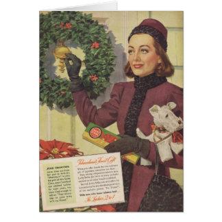 Anuncio 1937 del navidad de Joan Crawford