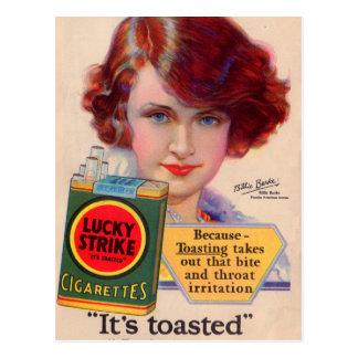 Anuncio afortunado de 1929 huelgas con Billie Postal
