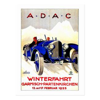 Anuncio alemán del automóvil del vintage del de tarjeta postal
