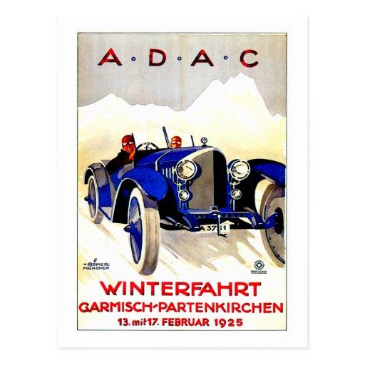 Anuncio alemán del automóvil del vintage del ~ de  tarjeta postal