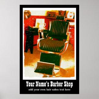 Anuncio casero del vintage del salón o del peluque póster