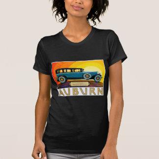 Anuncio castaño del coche de motor del vintage del camisetas