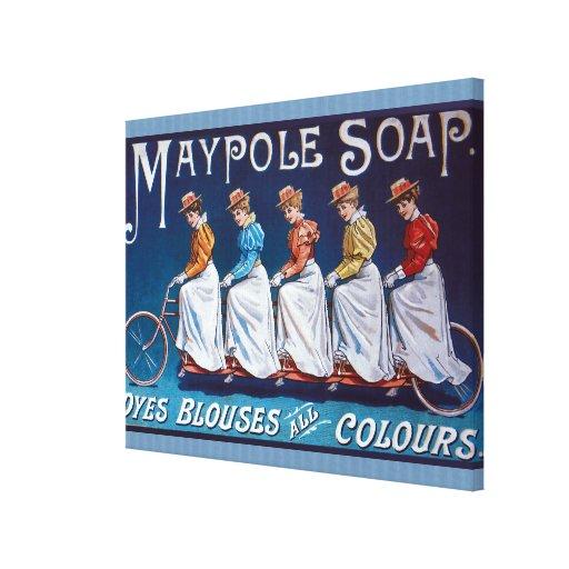 Anuncio colorido del jabón impresión de lienzo