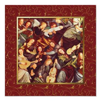 Anuncio de ángeles. Tarjetas de Navidad religiosas