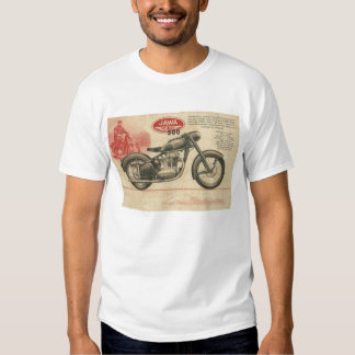 Anuncio de Europa de la motocicleta de Jawa de los Camiseta