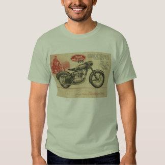 Anuncio de Europa de la motocicleta de Jawa de los Camisetas