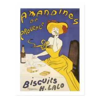 Anuncio de H. Lalo Vintage de las galletas de Aman Postal