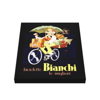 Anuncio de la bicicleta de Bianchi del italiano Impresión En Lienzo