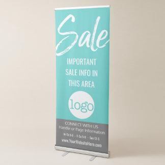 Anuncio de la venta - añada el logotipo y los pancartas retráctiles