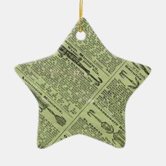 Anuncio de las artes de pesca adorno navideño de cerámica en forma de estrella