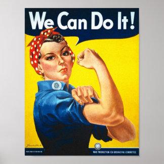 Anuncio de las derechas de la vintage mujer póster