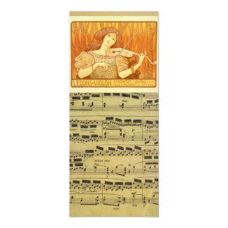 Anuncio de las lecciones de violín del francés el