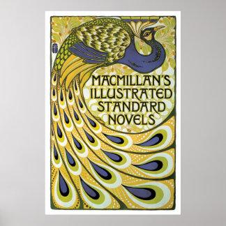 Anuncio de las novelas de Macmillan del nouveau Póster